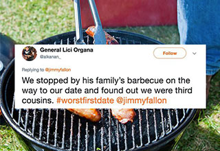 quote over a bbq grill about a bad first date