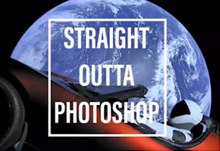 starman in space turned into a Straight Outta meme