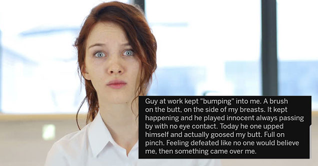a woman who got her creepy coworker fired