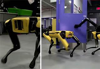robots opening a door
