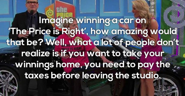 funny fact about winning cars on the price is right