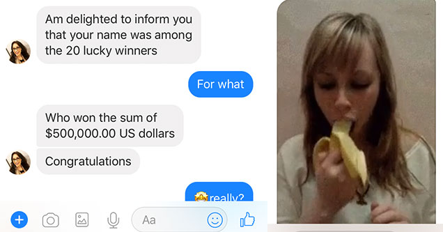 idiot scammer gets trolled on facebook