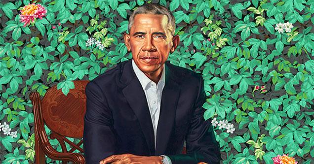 new portrait of Barak Obama