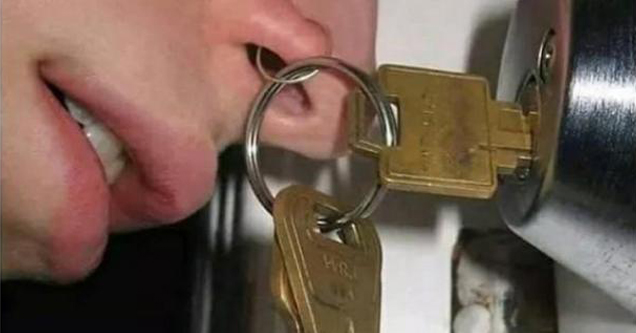 Nose Key Ring