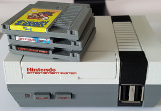 NES with games.