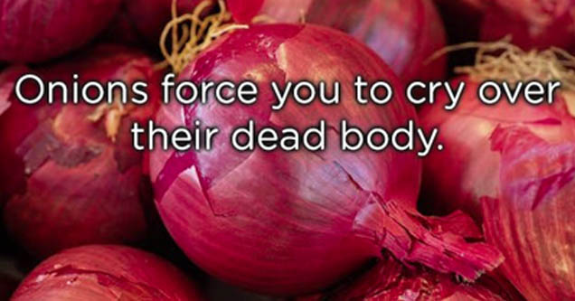 onions with a fact laid atop them