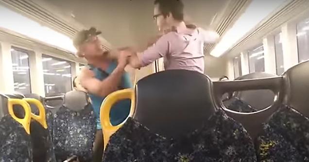 Train fight in Sydney