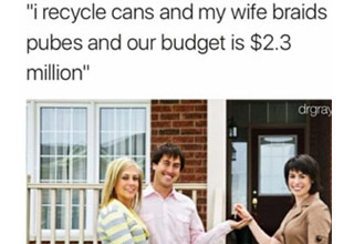 a meme about house hunters ridiculous budgets