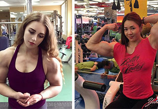 two super buff women who could beat you up