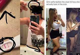 cringe pics from people who are full of bs