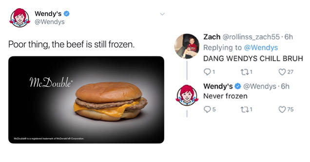 wendy s twitter beef will make you never want mcdonald s wow