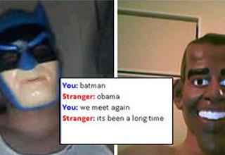 batman and obama meet online