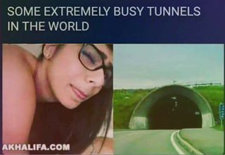 Extremely busy tunnels in the world meme, which includes Mia Khalifa's vagina