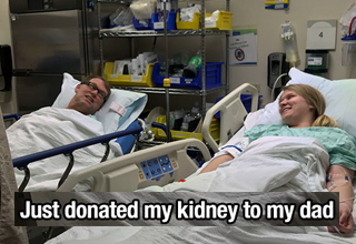 Daughter donates kidney to father