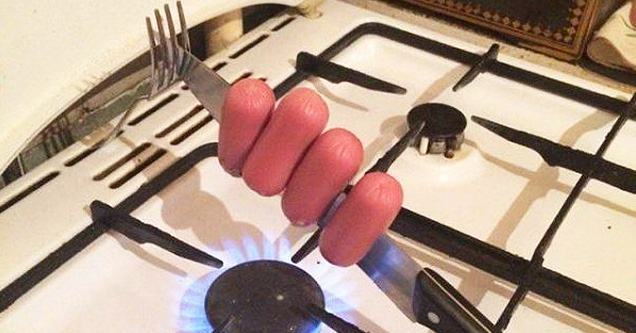 Hotdog cooking hack