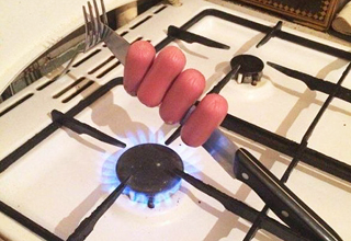 Hotdog cooking hack