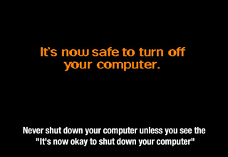 It is now safe to turn off your computer notice