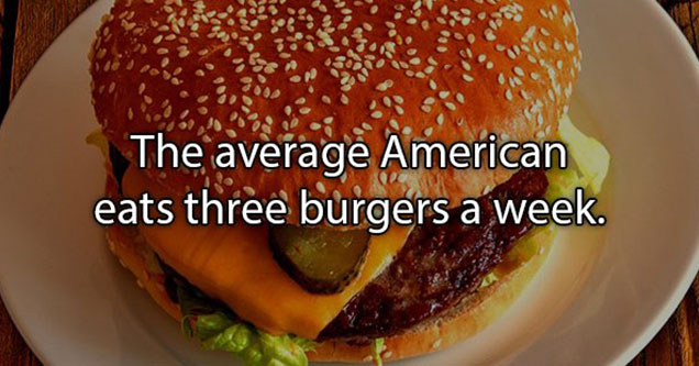facts about Americans eating burgers
