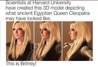 Cleopatra recreation looks like Britney Spears