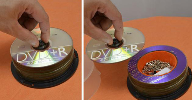 stack of CD-Rs is actually container