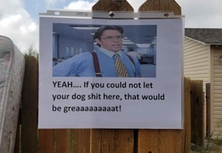 Man posts passive aggressive sign to neighbors regarding dog shit