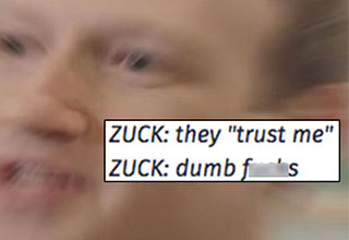Mark Zuckerberg looking like a real crazy dude