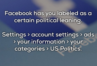 facebook knows your political leanings