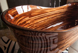 hand made wooden bathtub that costs thirty grand