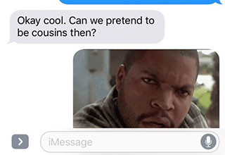 awkward text messages about cheating with your cousin
