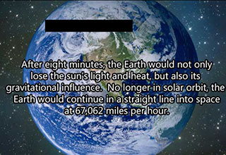 facts about the earth without the sun