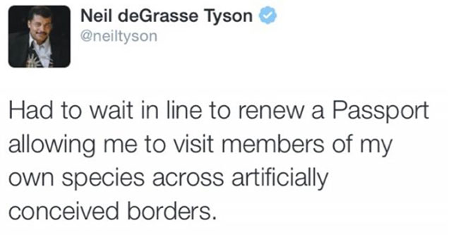 Neil DeGrasse Tyson being a nerd on twitter