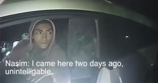 YouTube Shooter siting in her car at night talking to police