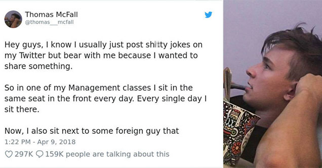 college student learns a very valuable lesson