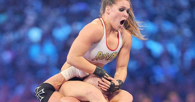 ronda rousey getting slammed in WWF