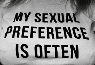 a shirt that says i my sexual preference is often