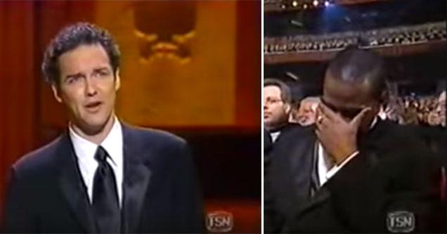 norm mcdonald giving an epic award show speech
