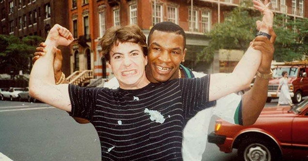 rober downey jr and mike tyson on the streets of nyc