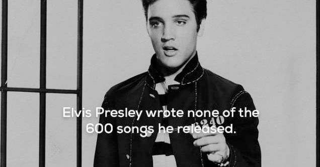 elvis didn't write any of his songs