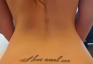 tattoo'ed person loves anal sex