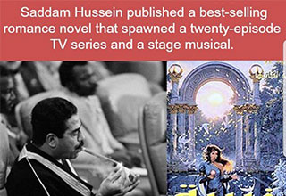 cool fact about Sadam Hussien and his musical