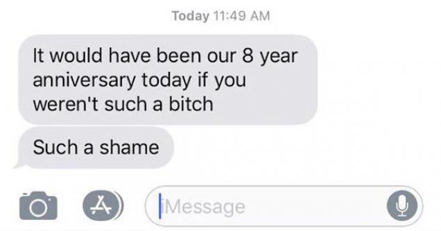 text from an ex
