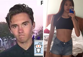 David Hogg and a cute girl online that he likes