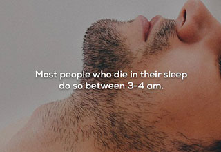 creepy fact about dying in your sleep