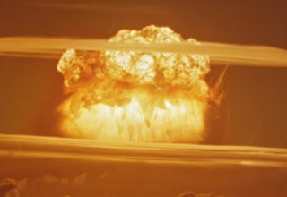 nuclear explosion from usa project castle bravo