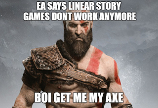 God of War meme.