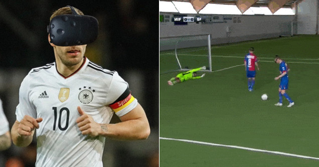 Pro Athletes Hilariously Try Playing Soccer With VR Headsets On Their Face  - Funny Article  efca14dd5
