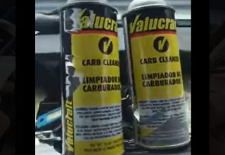 two cans of valuecraft carburetor cleaner
