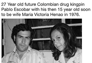 pablo escobar and his 15 year old wife