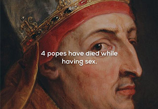 fact about the pope dying while having sex