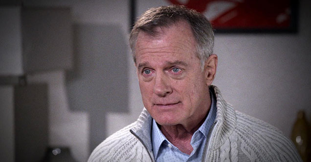Stephen Collins looking like he's about to cry